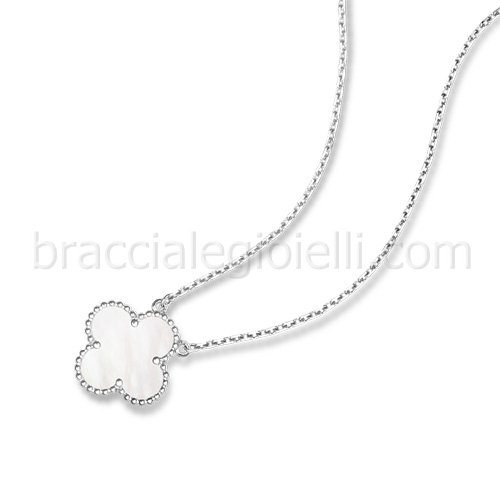 falso Van Cleef & Arpels Vintage Alhambra bianco madre perla pendente - Clicca l'immagine per chiudere