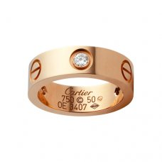Replik Cartier Love Ring Rotgold mit drei Diamanten B4087500
