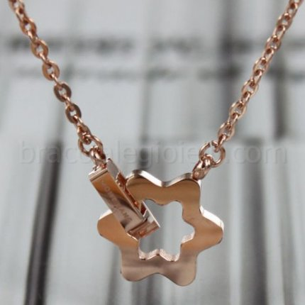 Mont Blanc pink gold necklace imitation