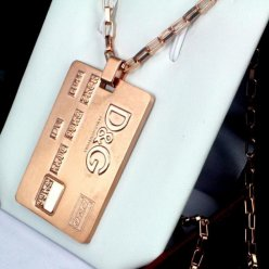 D&G pink gold necklace replica cool style for men
