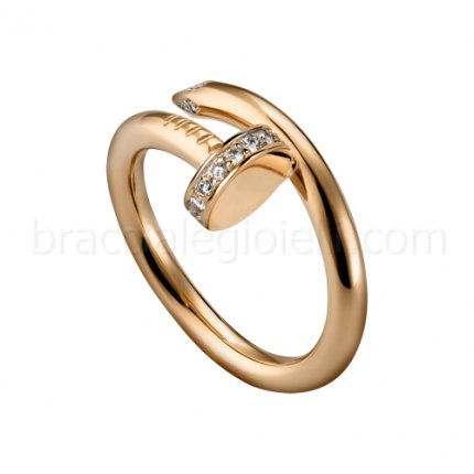 replica Cartier Juste un Clou ring Diamond in pink gold B4094800