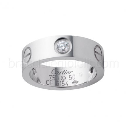 Replica cartier Love ring white gold with three diamonds B4032500