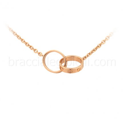 replica Cartier Love necklace in pink gold B7212300