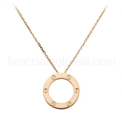 replica Cartier Love necklace in pink gold B7014400