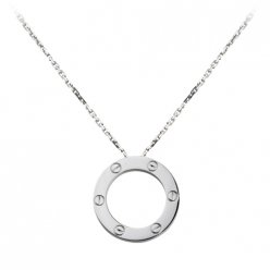replica Cartier Love necklace in white gold B7014300