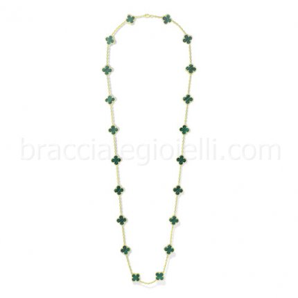 Van Cleef & Arpels Vintage Alhambra fake yellow gold long necklace
