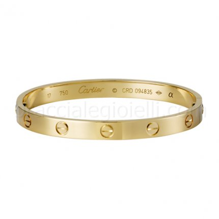 Classic fake cartier love bracelet in yellow gold B6035516