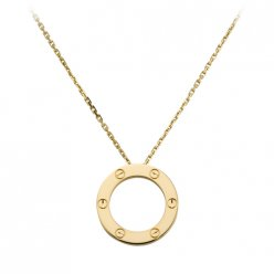 Cartier Love necklace replica in yellow gold B7014200