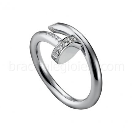 fake Cartier Juste un Clou ring Diamond in white gold B4092700