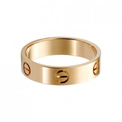 Bague amour cartier imitation en or rose B4084800
