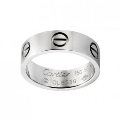 Réplique Bague love cartier en or blanc B4084700
